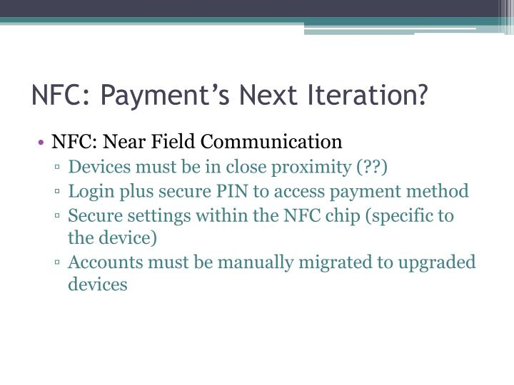 NFC: Payment's Next Iteration?