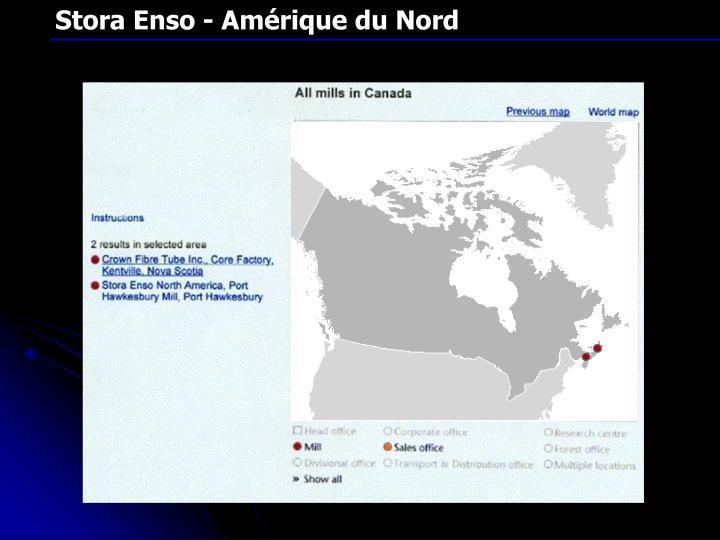 Stora Enso - Amérique du Nord
