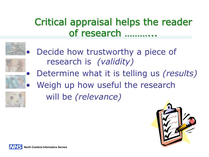 critical appraisal of research papers
