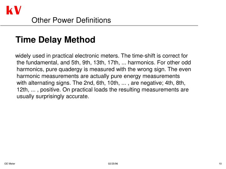 Other Power Definitions