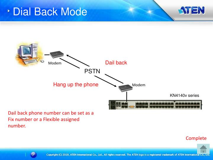 Dial Back Mode