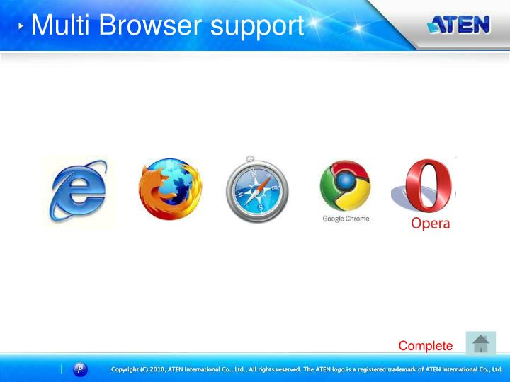Multi Browser support