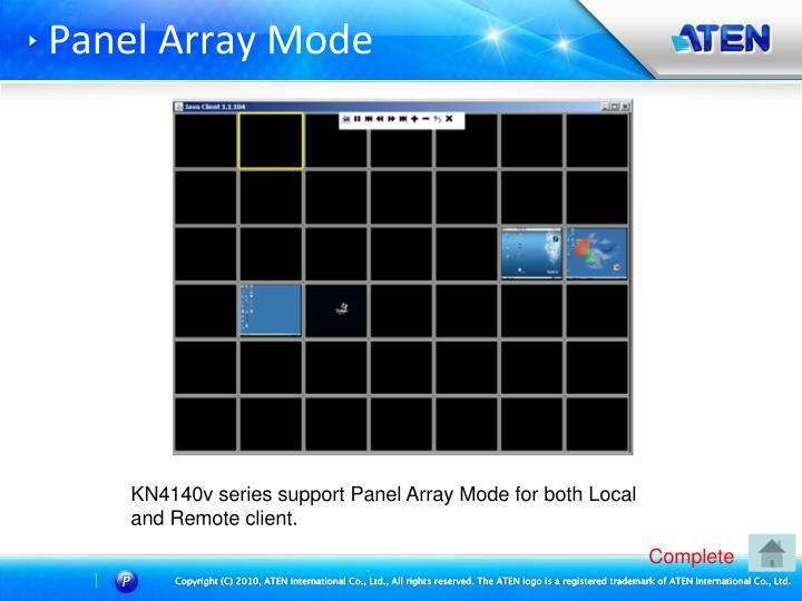 Panel Array Mode