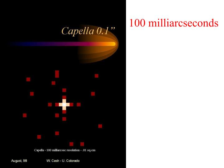 100 milliarcseconds