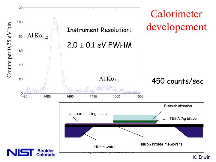 Calorimeter developement