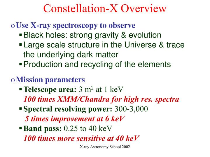 Constellation-X Overview