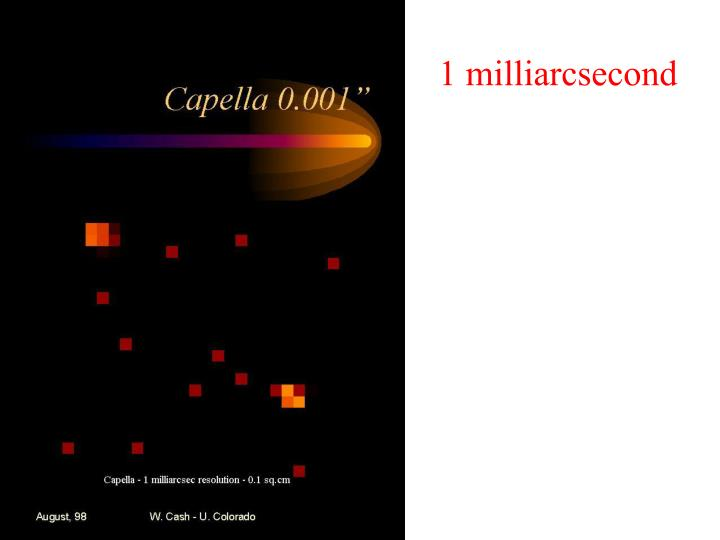 1 milliarcsecond