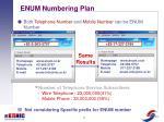 enum numbering plan