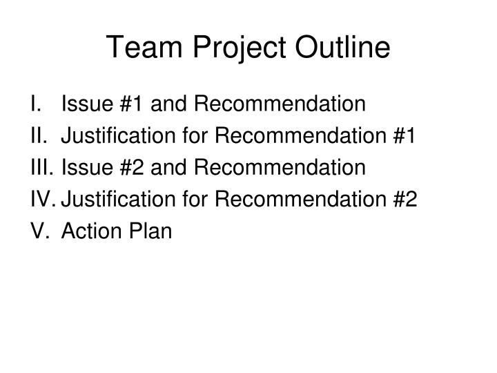 Team project outline