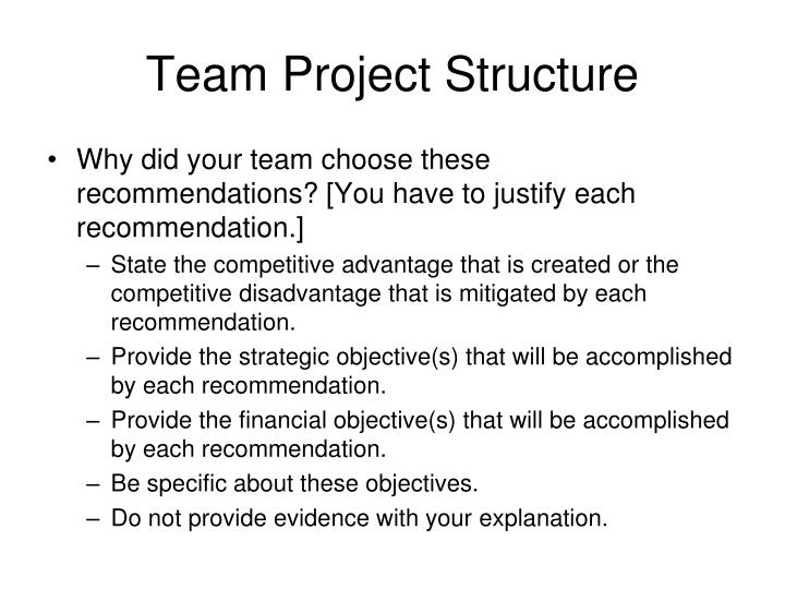 Team Project Structure