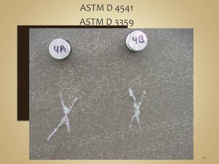 ASTM D 4541
