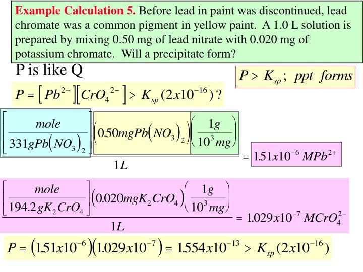 Example Calculation 5.