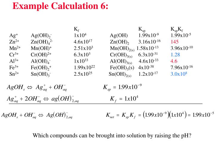 Example Calculation 6: