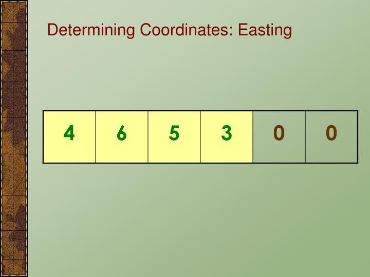 Determining Coordinates: Easting