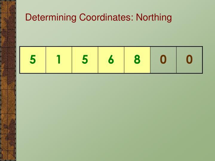 Determining Coordinates: Northing