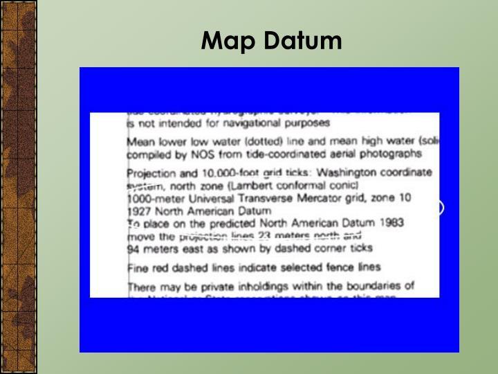 Map Datum