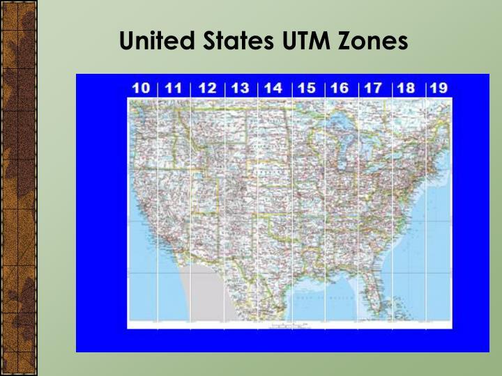 United States UTM Zones