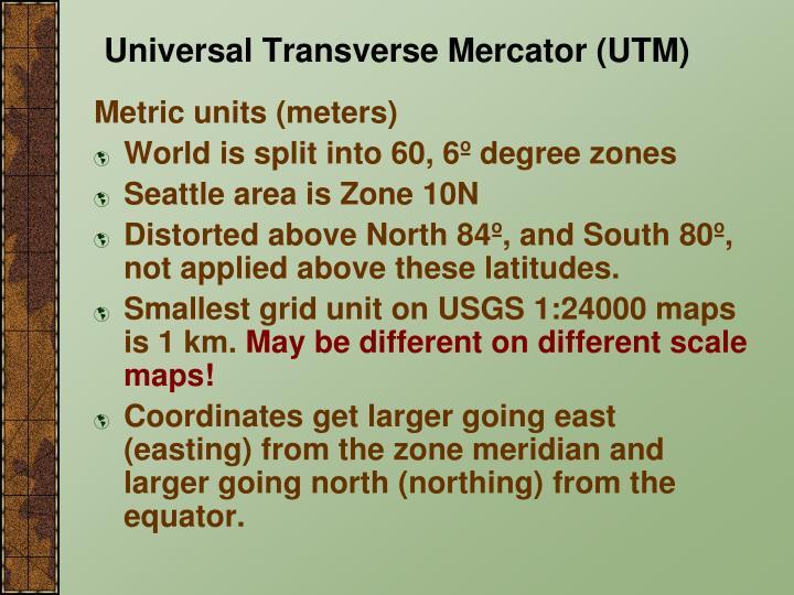 Metric units (meters)