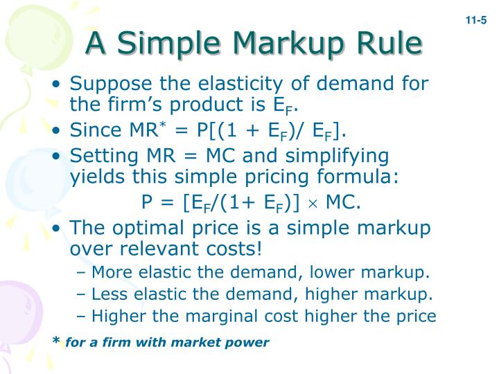 A Simple Markup Rule