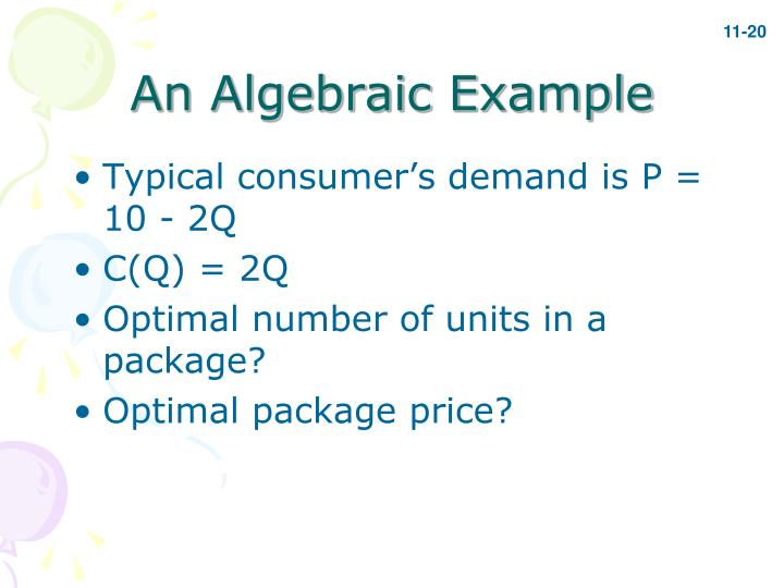 An Algebraic Example