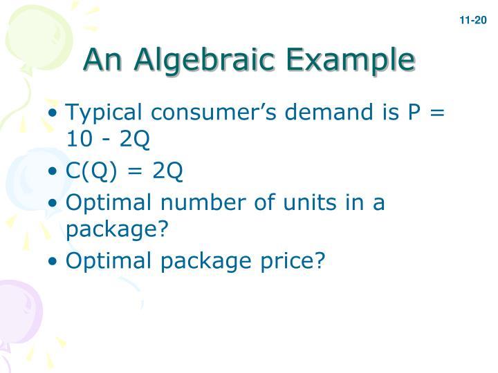 An Algebraic Example