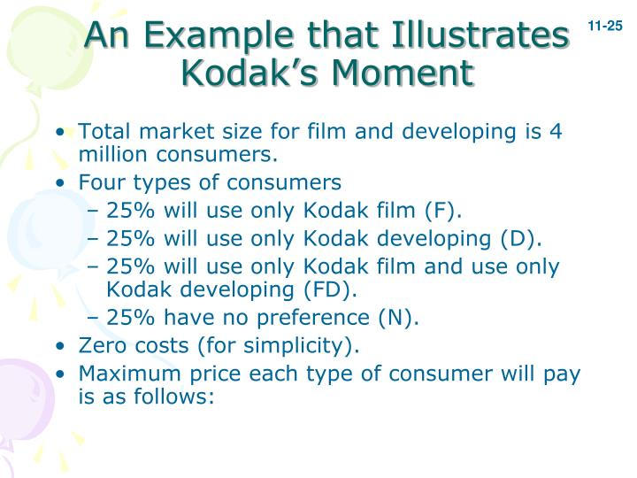 An Example that Illustrates Kodak's Moment