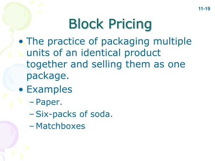 Block Pricing