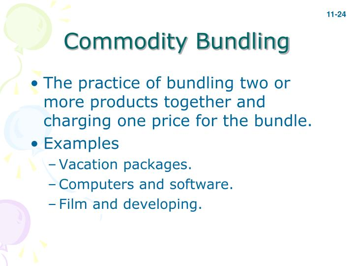Commodity Bundling