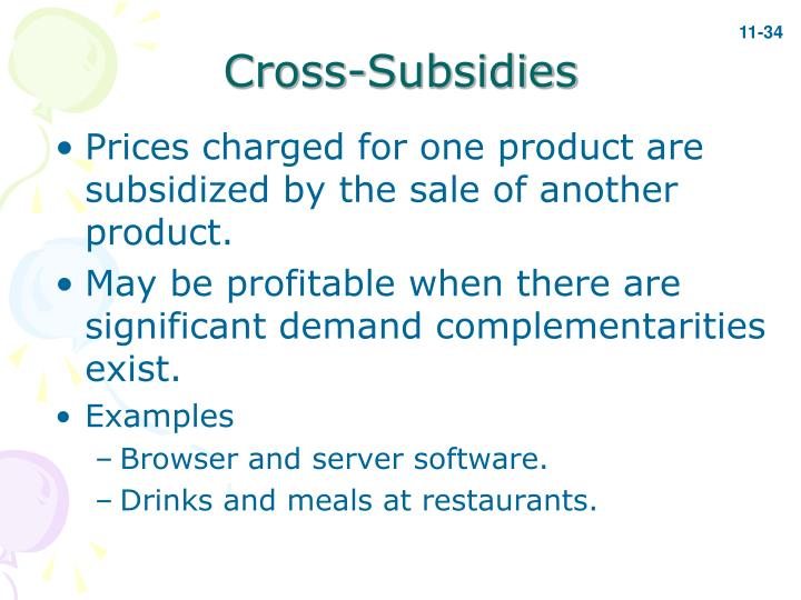 Cross-Subsidies