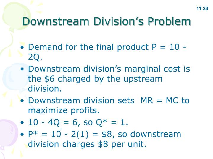 Downstream Division's Problem