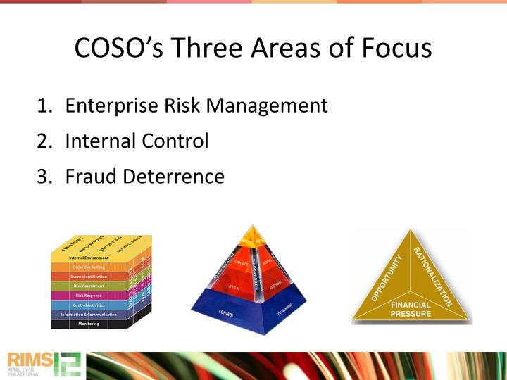 COSO's Three Areas of Focus