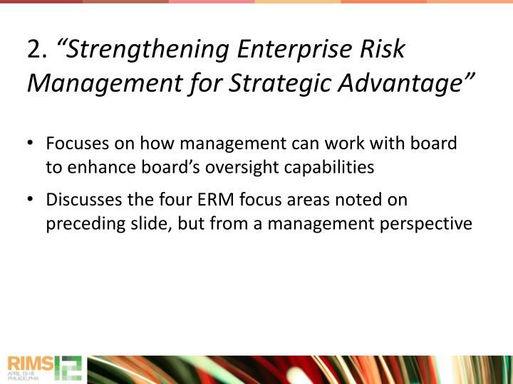 Focuses on how management can work with board to enhance board's oversight capabilities