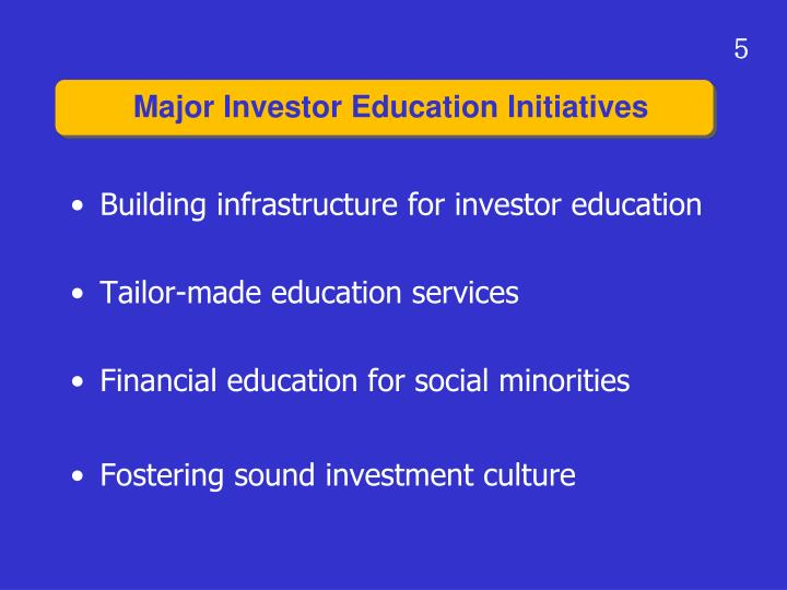 Building infrastructure for investor education