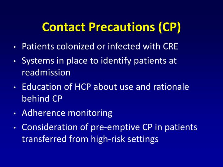Contact Precautions (CP)