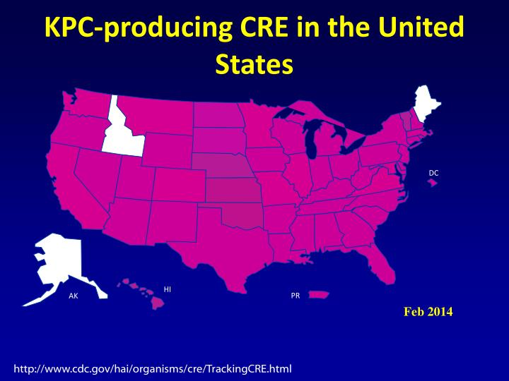 KPC-producing CRE in the United States