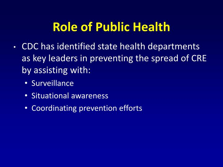 Role of Public Health
