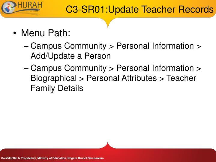 C3-SR01:Update Teacher Records