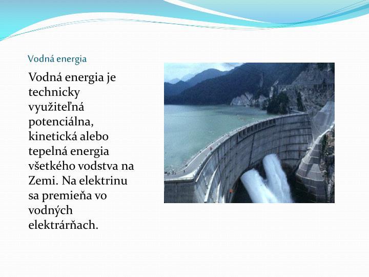 Vodná energia
