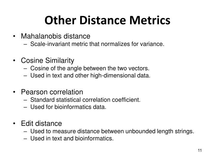 Other Distance Metrics