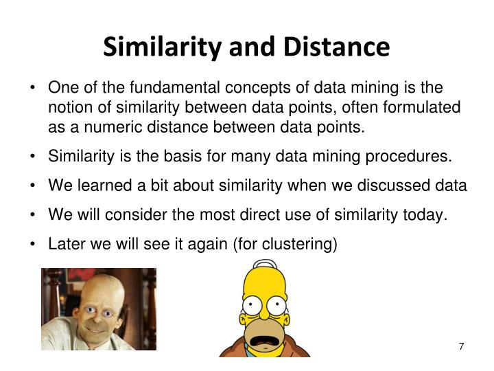 Similarity and Distance