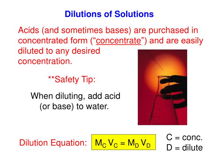 Dilutions of Solutions