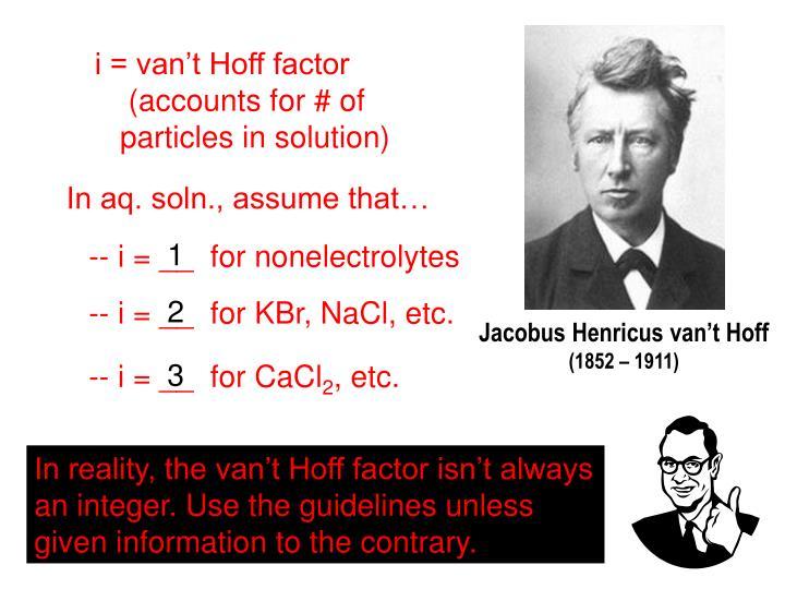 i = van't Hoff factor