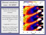 diurnal subsidence wave ecmwf