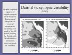diurnal vs synoptic variability mm5