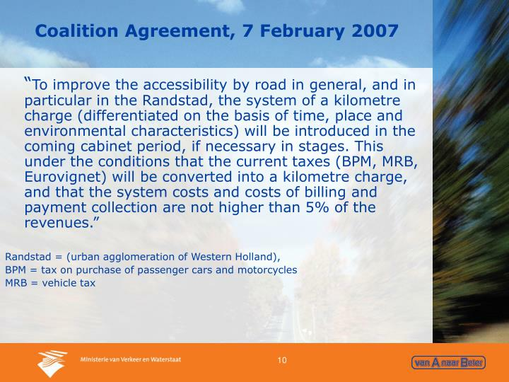 Coalition Agreement, 7 February 2007