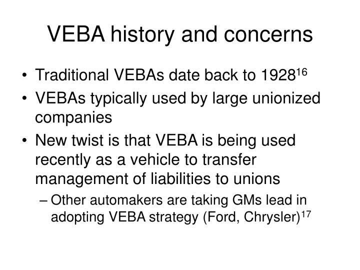 VEBA history and concerns