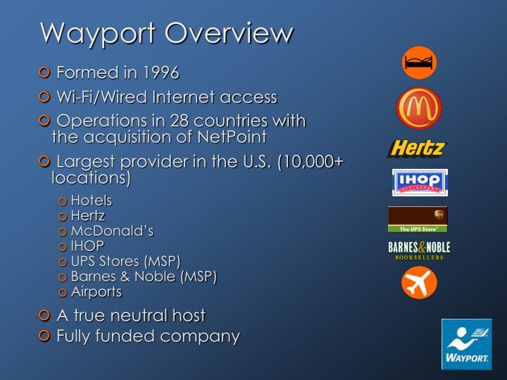 Wayport Overview