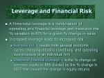 leverage and financial risk2