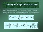 theory of capital structure4