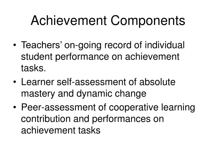 Achievement Components